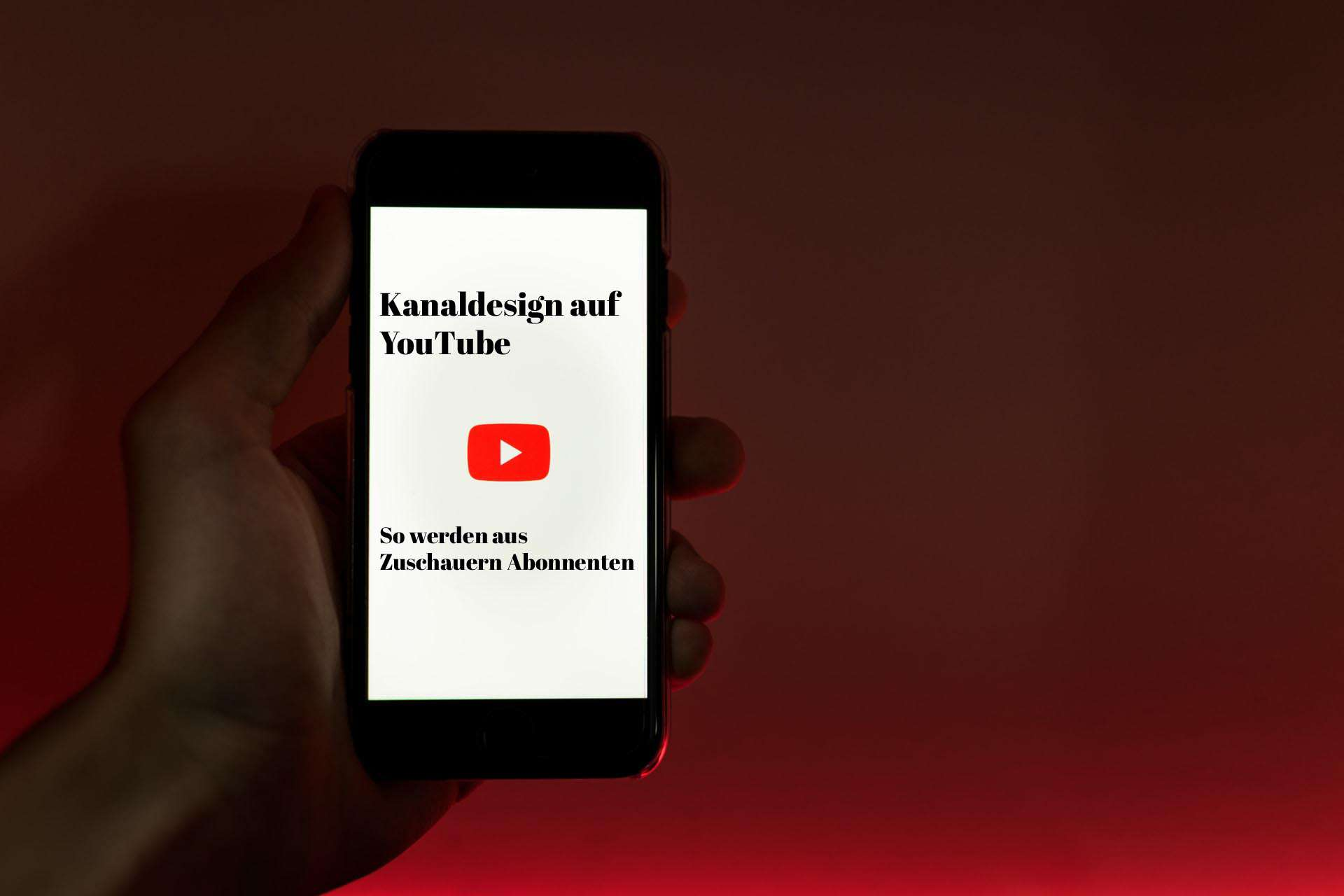 YouTube Kanaldesign